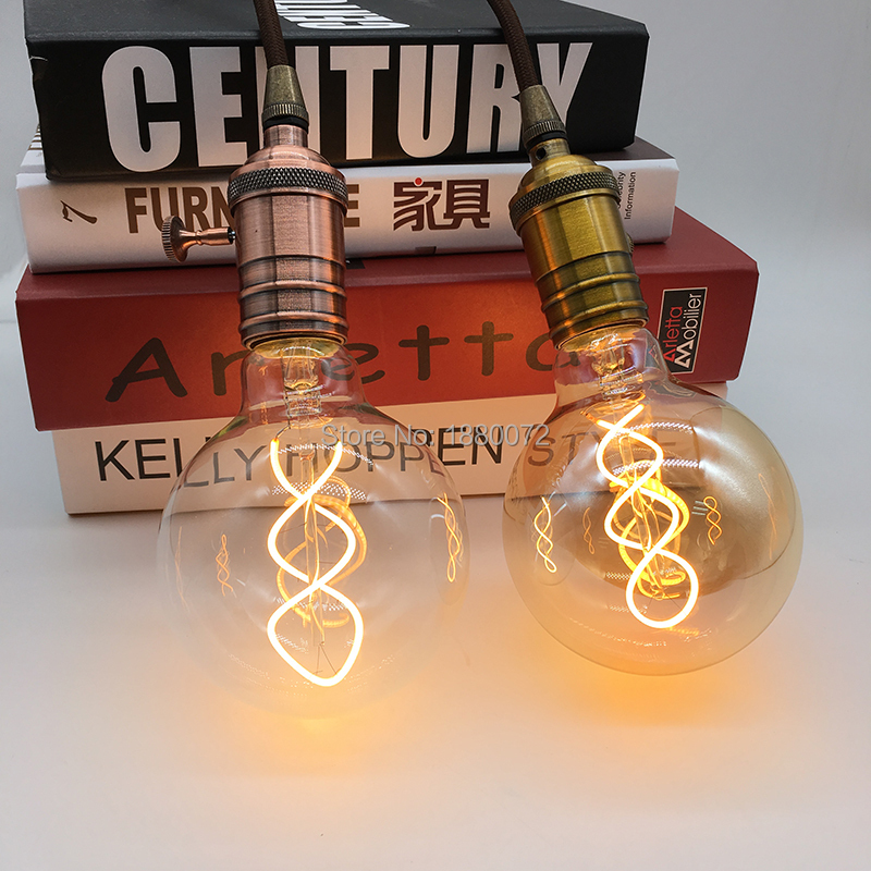 Dimmable vintage edison style led light bulb G95 4W
