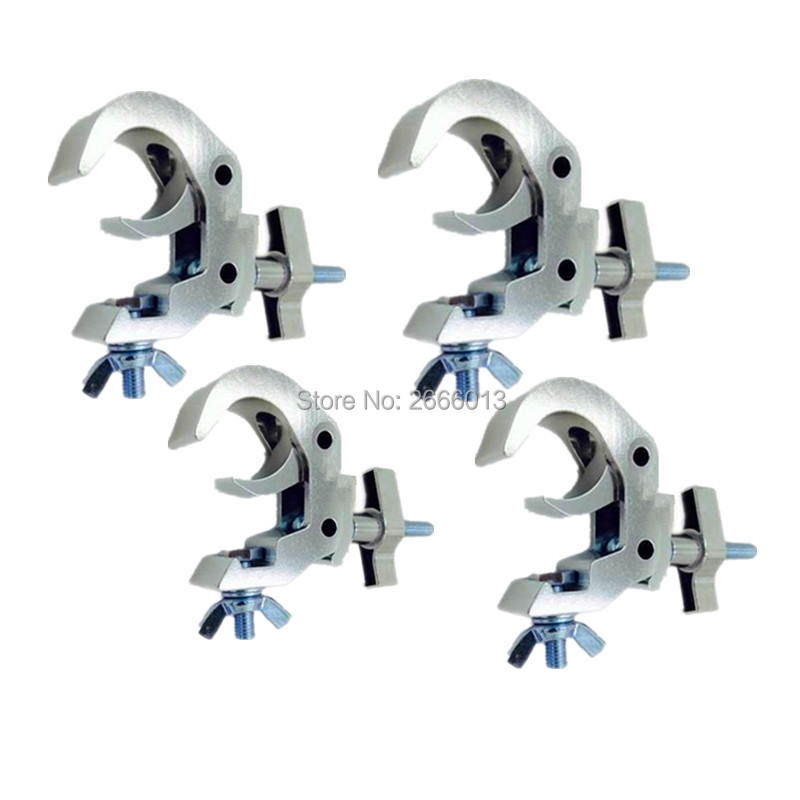 4PCS Truss Hook Clamp Heavy Duty 40-52mm Stage Light Hook Clamp/Truss clamps/Moving Head Light Truss Kit/ Aluminum Alloy Finish global truss f34040 truss 0 40m