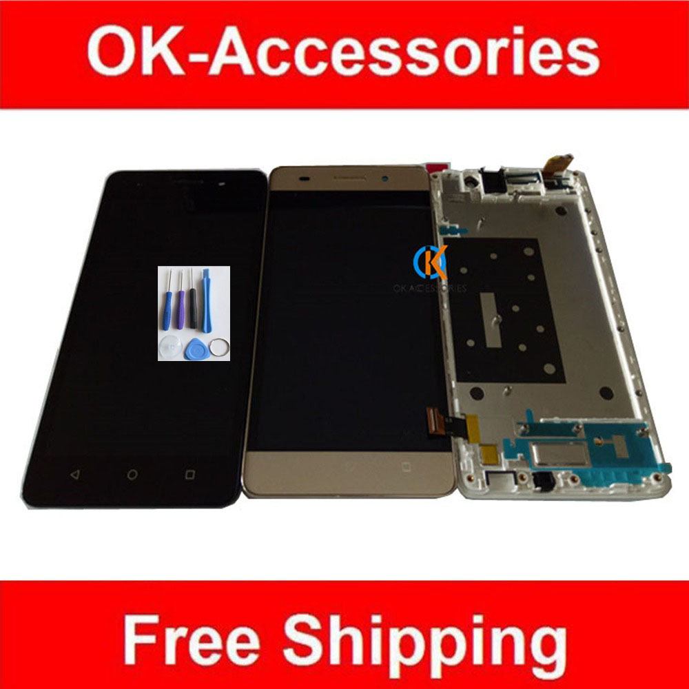 5.0 Black White Gold Color For Huawei Honor 4C LCD Display+Touch Screen Digitizer With Frame Assembly With Free Tools 1PC/Lot free dhl ems shipping warranted lcd for huawei g700 screen display with touch digitizer white black color tools 10 pieces a lot