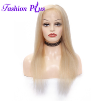 Full Lace Human Hair Wigs With Baby Hair Blonde Brazilian Virgin Hair Wigs For Women Human Hair Wigs 12'' 28'' Can Be Customized