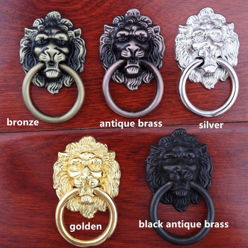 vintage style lionhead knobs golden silver black antique brass bronze antique copper large meatball drawer cabinet pulls knobs vintage style golden silver black antique brass bronze antique copper lionhead drawer cabinet knobs pulls handle retro furniture