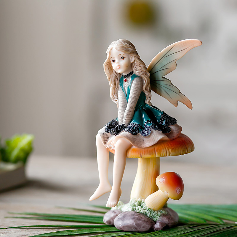 1pcs Europe Resin Forest angel Creative 5 styles miniature figurines tabletop crafts Living room decoration Wedding Gifts in Figurines Miniatures from Home Garden