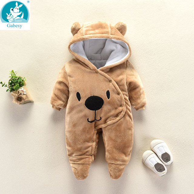 דוב אוזן סלעית חדש נולד תינוק Rompers לתינוקות בני בנות בגדי יילוד בגדי מותגים סרבל תינוקות תלבושות תינוק תלבושת