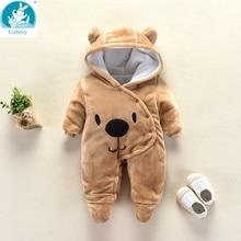 Urso da orelha com capuz recém nascidos macacão para bebês meninos meninas roupas recém nascidos marcas macacão infantil traje do bebê roupa