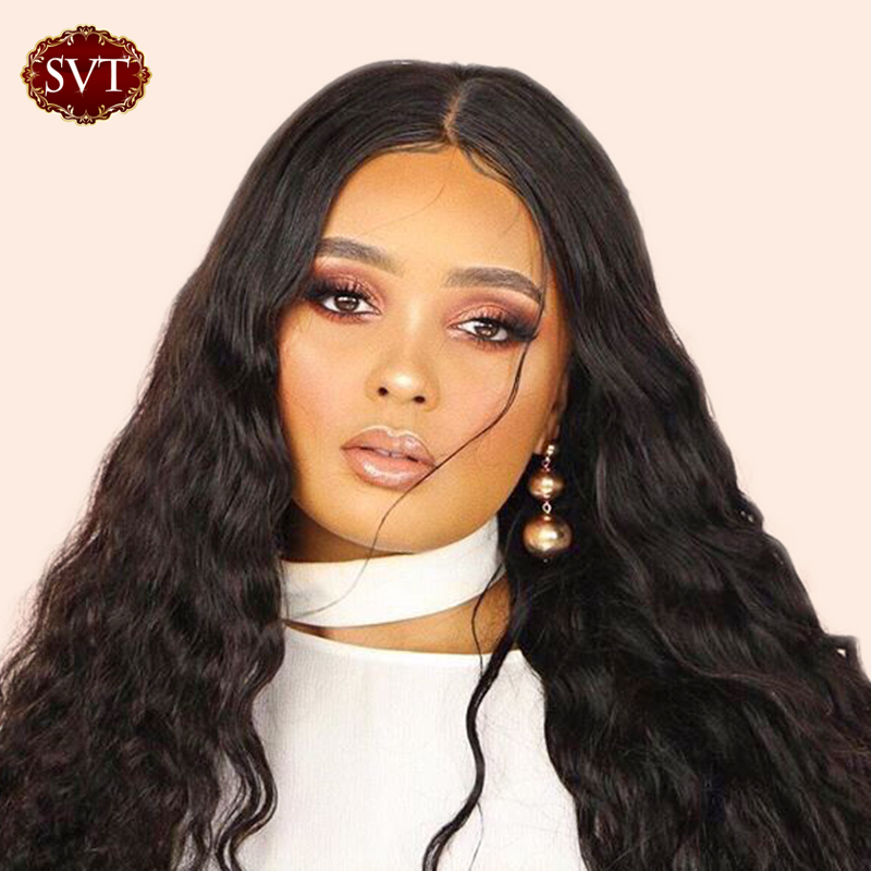 SVT Lace Front Human Hair Wigs 4x4 Closure Lace Wigs Remy Brazilian Hair Wig 150% Body Wave Lace Front Wigs For Black Women(China)