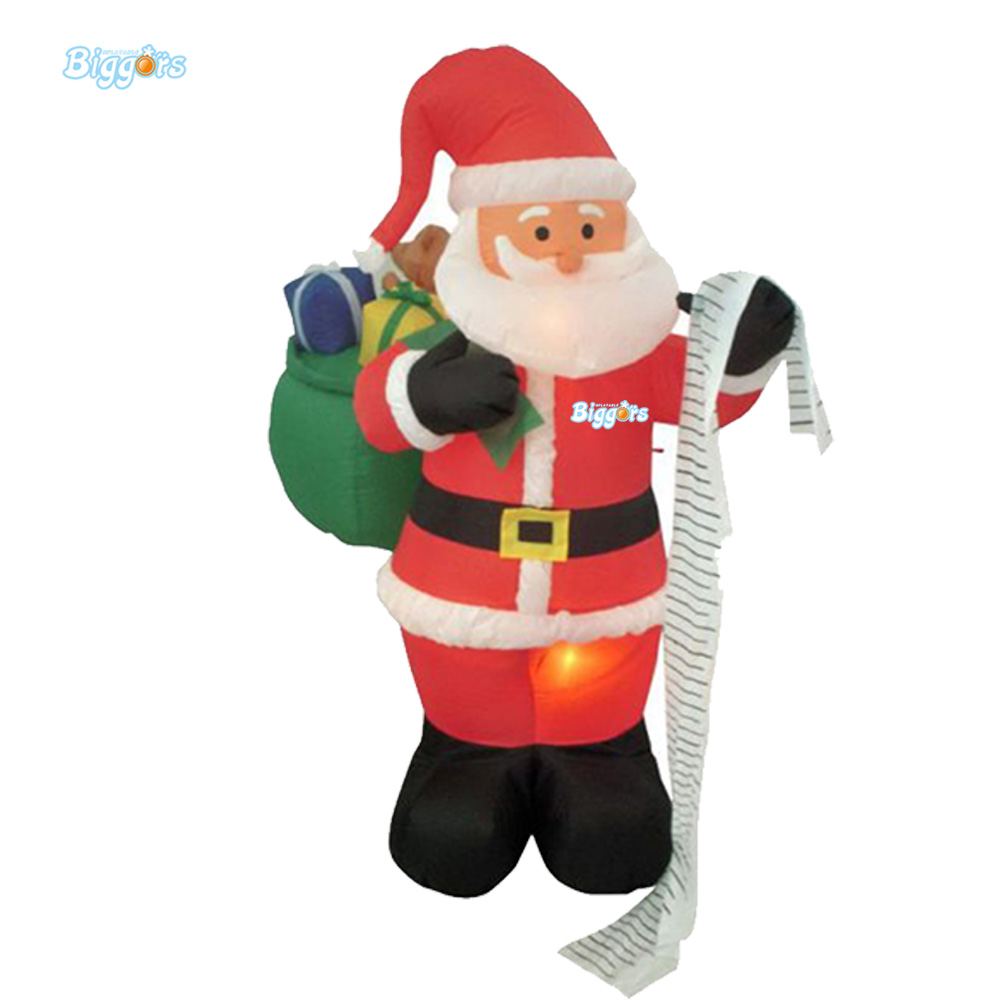 Inflatable Lighting Christmas Santa Character For Advertising Decoration inflatable cartoon customized advertising giant christmas inflatable santa claus for christmas outdoor decoration