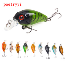 цена POETRYYI 4.5cm 3.8g Crankbait Fishing Lure Artificial Crank Hard Bait Topwater Minnow Fishing Wobblers Japan Fish Lures 30 онлайн в 2017 году