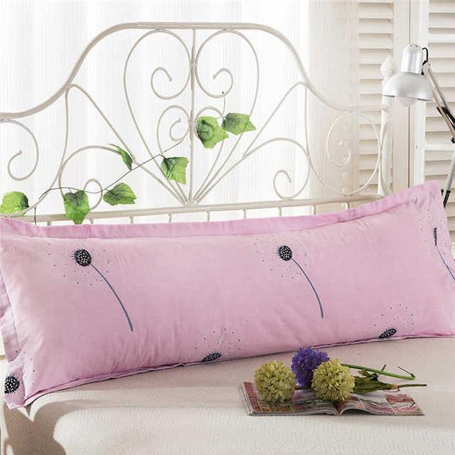 48*120 Comfy Home  Print Pillowcase Long Body Double Pillow Cover Protector Simple No Fade 100%Cotton Pillowcase 1