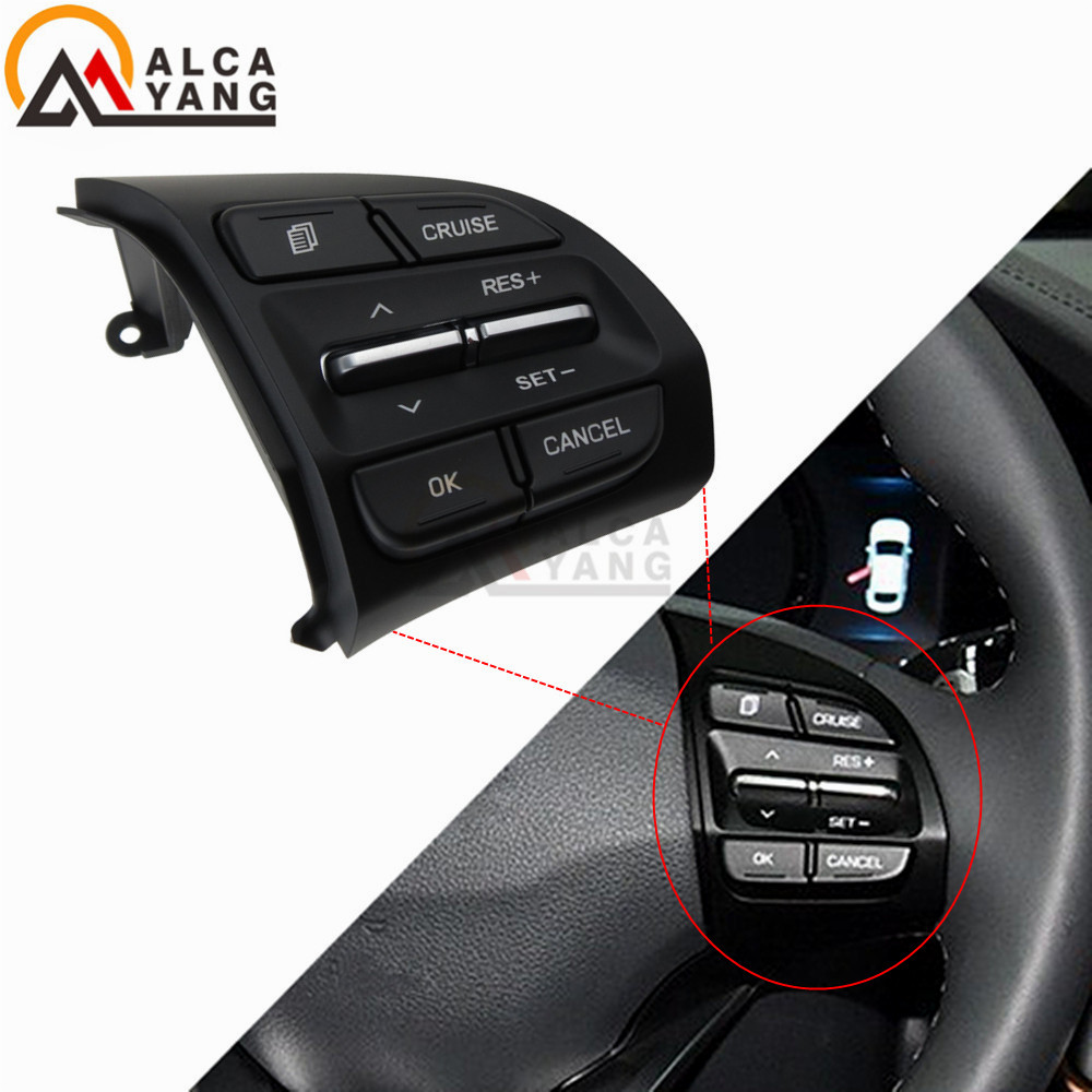 With Chrome Steering Wheel Button For Hyundai Elantra AD Sport 2016-2017 Encino 2018 Audio Control Switch