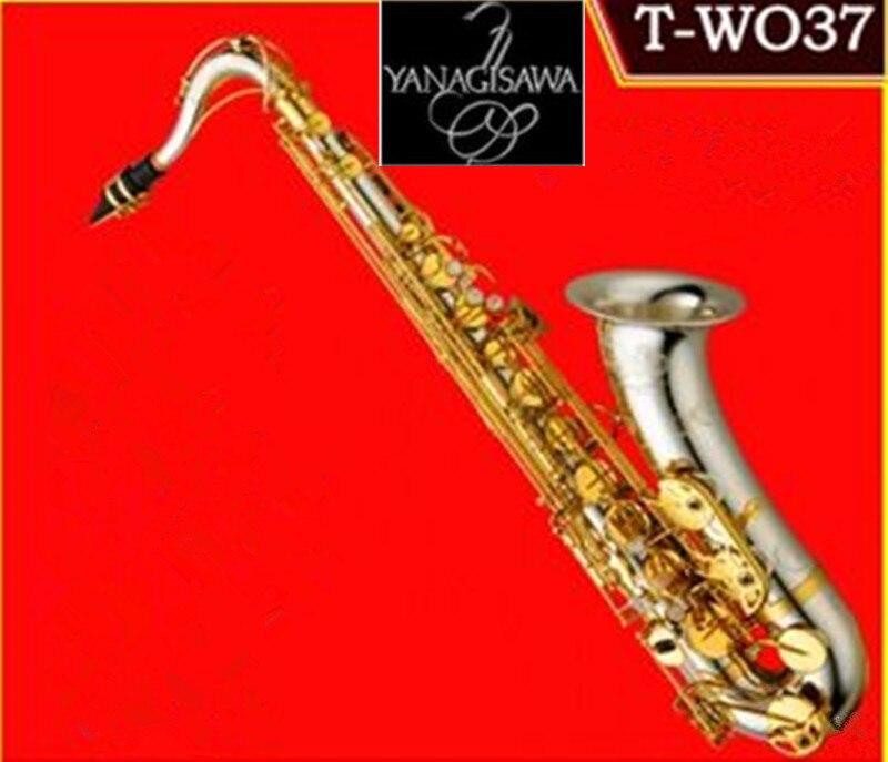 Musical Instruments yanagisawa T WO37 Tenor Saxophone Bb Tone Nickel Silver Plated Tube Gold Key Sax