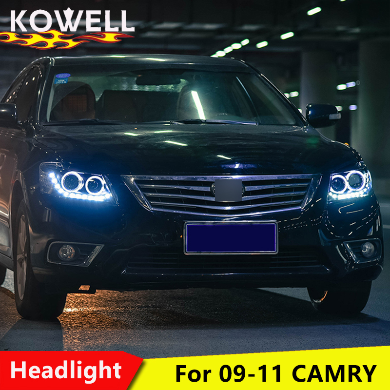 KOWELL Car Styling Head Lamp Case For Toyota Camry Headlights 2009 2011 LED Headlight DRL H7