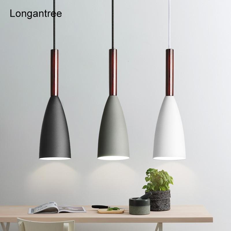 Pendentif LED nordique lumières industriel moderne lampe suspendue café chambre lampe de chevet salle à manger lumière veilleuse E27 lumière LED