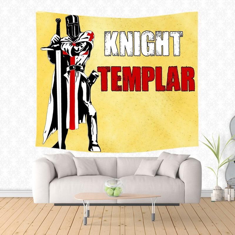 Knights Templar Cross Custom Wall Tapestry Fashional Beach Mat Wall ...