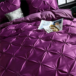 Image 2 - LOVINSUNSHINE Comforter Bedding Sets Double Flower Bed Linen US King Size Silk Duvet Cover Set AN02#