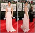 2015 elegante por encargo premios Oscar vestidos una línea de encaje bordoneado hombro celebridades vestido largo vestido de fiesta