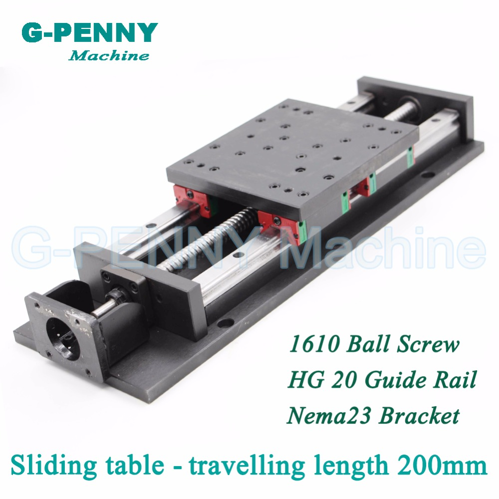 High Precision sliding table traveling length 200mm Chinese HG 20 Linear Guide Rail linear motion Ball Screw 1610 for Z axis high precision low manufacturer price 1pc trh20 length 1800mm linear guide rail linear guideway for cnc machiner