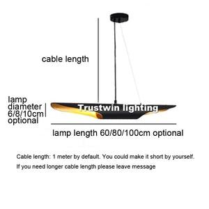 Image 5 - Replica delightfull coltrane loft moderno conduziu a lâmpada de suspensão luminária ouro preto asa alumínio tubo pendurado pingente lâmpada luz