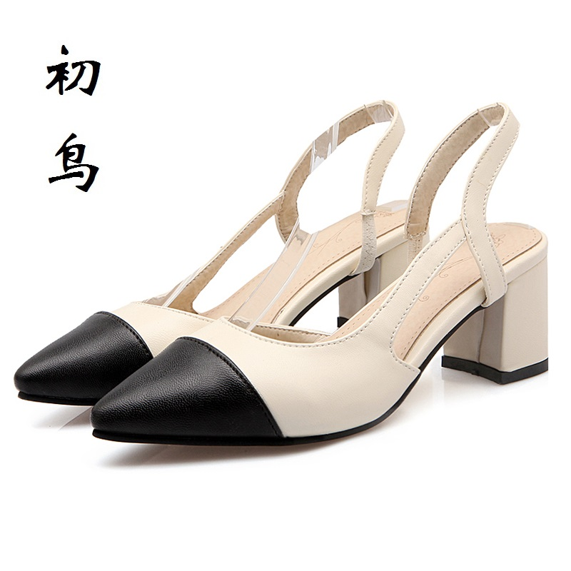 2017 Size 34-43 Fashion Stitching Color Sexy Women Sandals High Heels Ladies Pumps Shoes Woman Summer Style Chaussure Femme