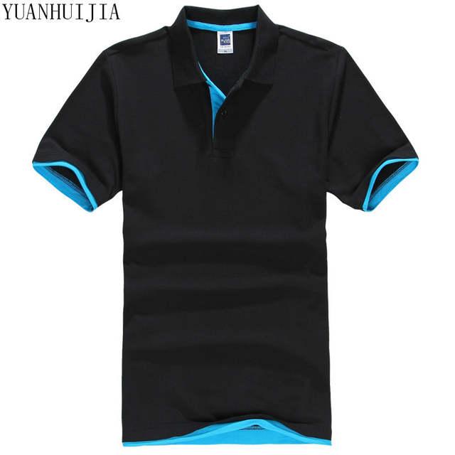 placeholder Camisa polo da marca dos homens novos para homens polos homens  algodão curto camisa de manga cbbae8a2c21fe
