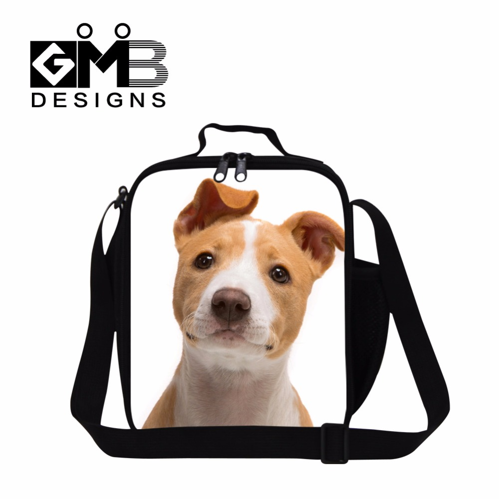lunch cooler bags for kids dog printed lunch box cooler insulated lunch container for children adult work lunch bag with straps