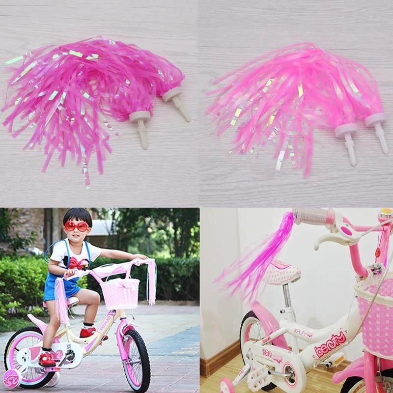 Bike Front Basket Case Tricycle Streamers Handlebar Grips Tassels For kids