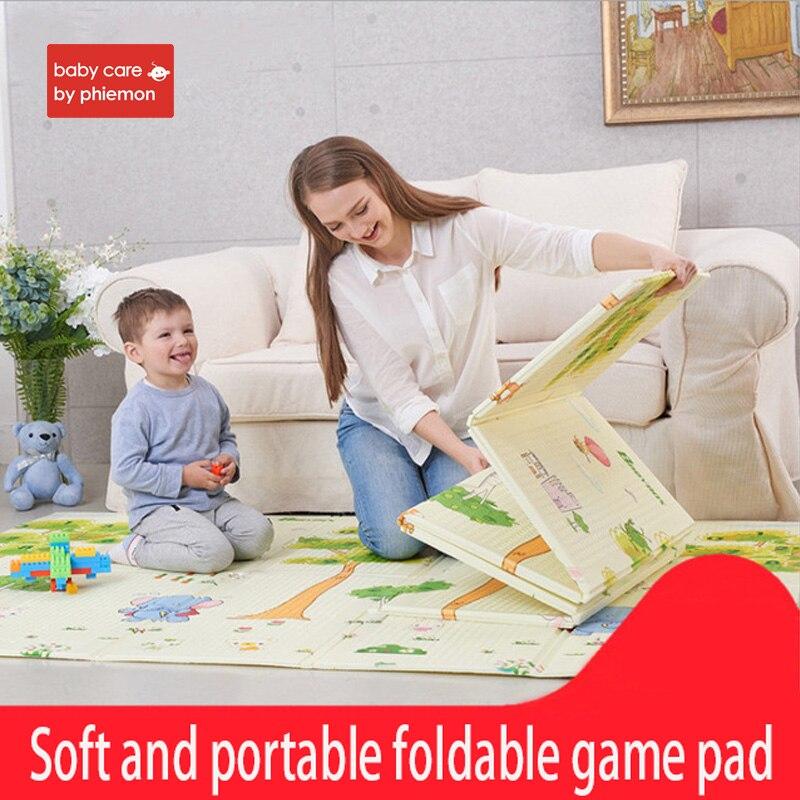 Babycare Portable pliable bébé escalade tapis de jeu Pad mousse XPE environnement épaissi bébé chambre ramper salon jeu couverture