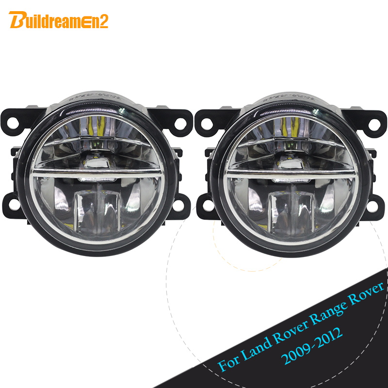 Buildreamen2 2 Pieces Car 4000LM LED Fog Light Daytime Running Light DRL 12V For Land Rover Range Rover III SUV (LM) 2009 2012