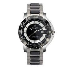 Real Beautylok Men Watch Date Display Male Clock New Big Dial White Lens Black Stainless Steel mechanical Wristwatch Hot Sale