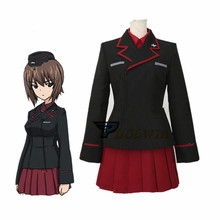 Anime Girls und Panzer Maho Nishizumi Cosplay Costume with Hat