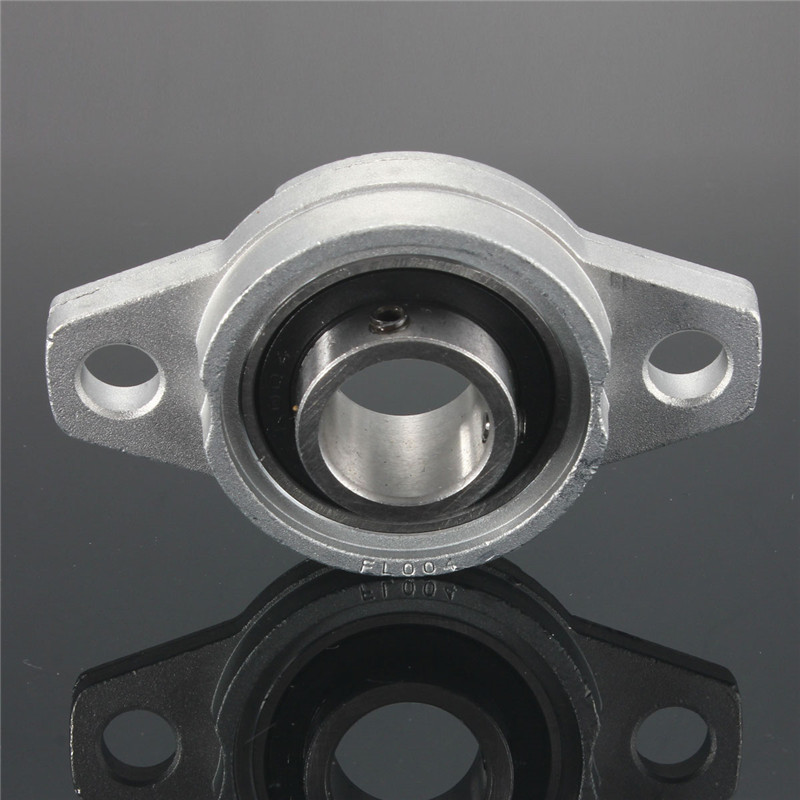 1PCS KFL004 Flanged Pillow Block Ball Bearing 20mm Zinc Alloy Miniature Bearings Mounted Shaft Support Accessories 2pcs precision kp001 bearing shaft 12mm diameter zinc alloy pillow block mounted support ball bearings housing roller mayitr