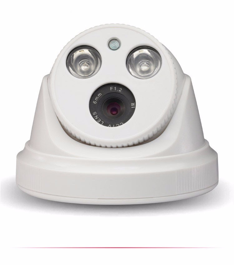 White ABS Plastic HaiKang Two Array Leds CMOS 1080P,960p,720P Dome AHD CCTV Camera picture 03