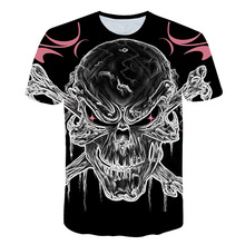 цены на Anime One Piece New Skull 3D Print T Shirt Summer Mens Fashion Tops Male Print harajuku Men Women Casual Hipster T-Shirts M-5XL  в интернет-магазинах