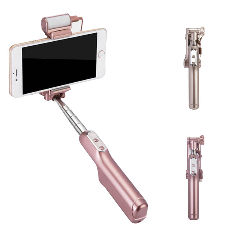Mini Extendable Selfie Stick Handheld Monopod Wired Cable Self Sticks for iPhone 6s Samsung S6 S7