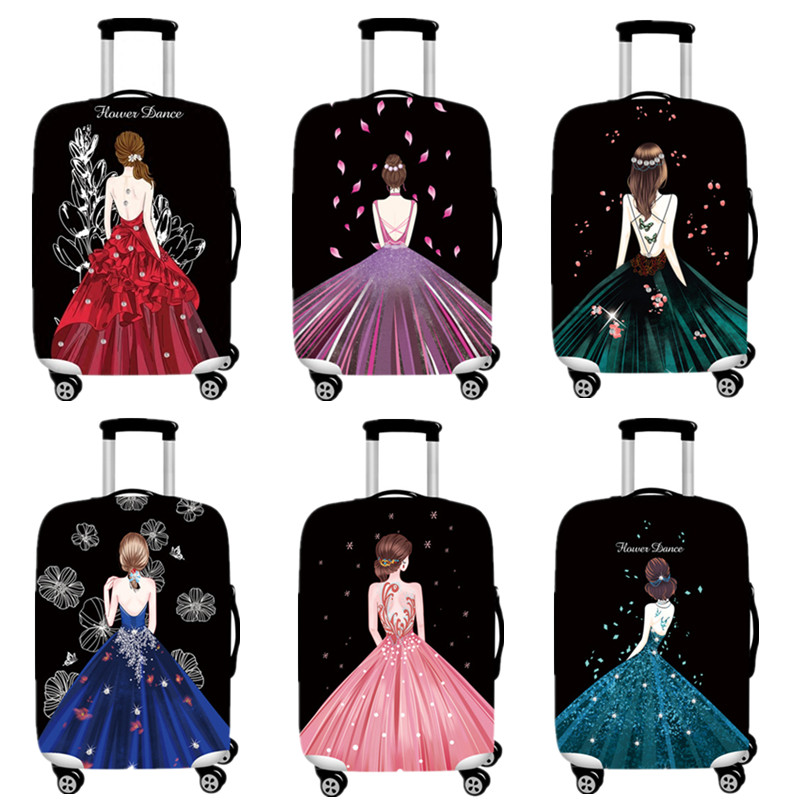 Women 3D Print Dust Cover Luggage Thicker Elastic Cute Protective Covers For 18