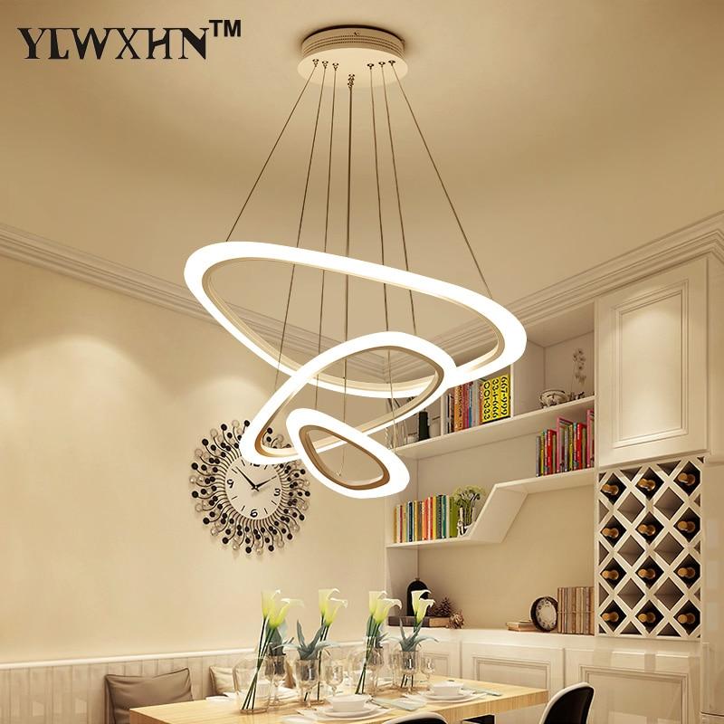 Suspension Luminaire Levou Chandelier Lamp Para Sala De Estar Da Jantar 4/3/2 An Is Tri Ngulo Acr Lico Corpo de Alum Nio Luzes