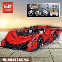Лепин 20091 техника RC спортивный гоночный автомобиль Veneno модель родстера комплект Совместимость Legoinglys MOC 10559 здания Конструкторы детей игруше...