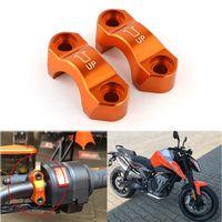 For KTM 790 Duke 2018 2019 Brake Master Cylinder Mirror Mount Clamp Cover Motorcycle Accessories CNC Aluminum Orange