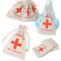10Pcs Recovery Kit Bags Party Favors Storage Hangover Kit Bags Birthday Gift Bags for Home Party Supplies