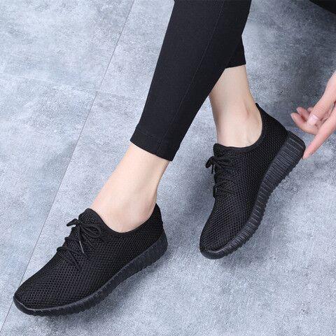 Women Casual Shoes Fashion Breathable Walking Mesh Lace Up Flat Shoes Sneakers Women Vulcanize Shoes 2019 Tenis Feminino Shoes
