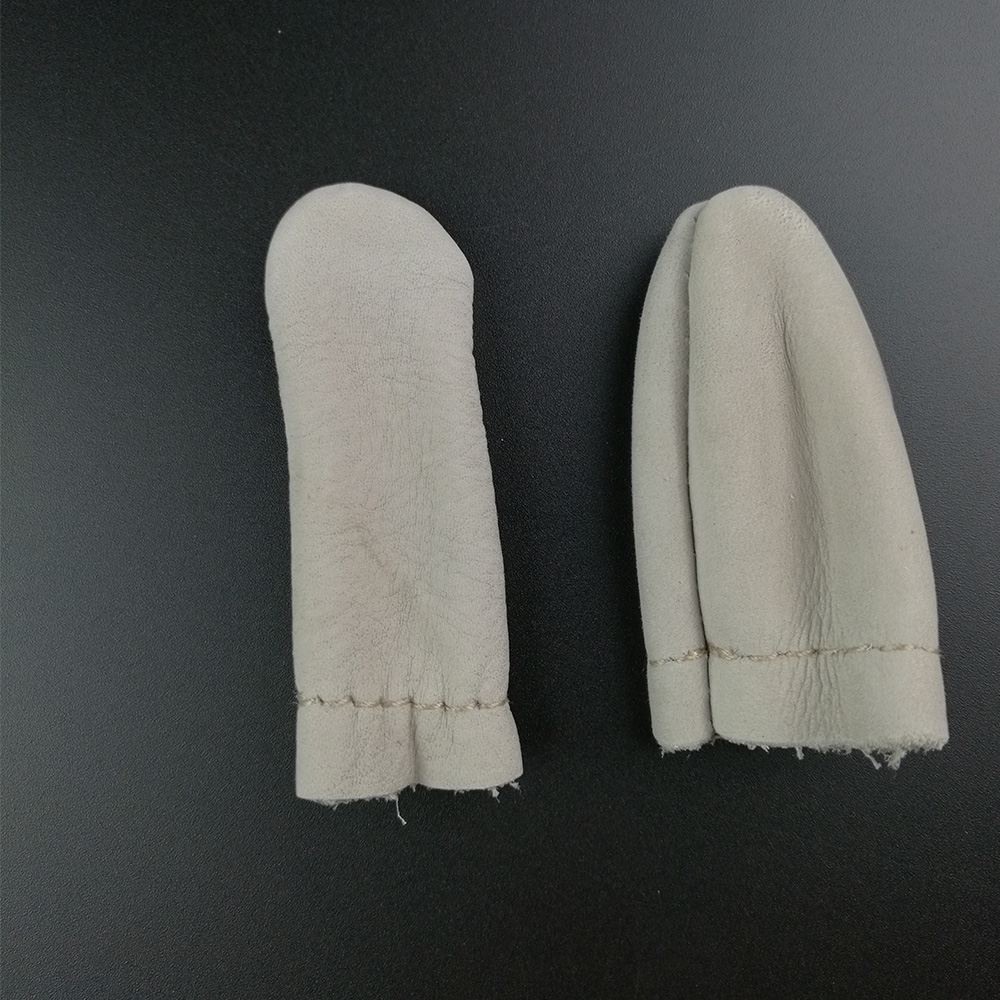 5 Pairs Safe Real Leather Needle Felting for Thumb Index Finger Protector Thimble Protection Guard Hand Craft Embroidery Tool