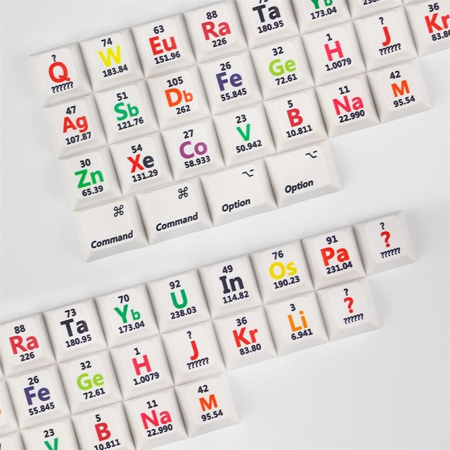 Cherry Profile Pbt Keycaps 26 Keys Chemical Element Periodic Table