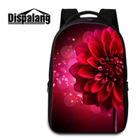 Dispalang Red Flower Printed Large Laptop Backpack For Girls Women S Fashion Travel Rucksack Shoulder Bags