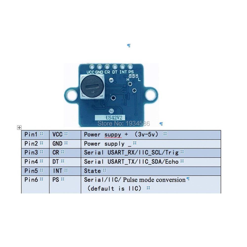 WS16 Pixhawk APM Ultrasonic Sensor Distance Measuring Transducer Sensor  Flight Control US42V2 Module Replace MB1242 MB1240 SRF02