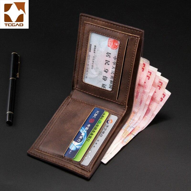 Men Wallets Leather Wallet Short Small Erkek Cuzdan Male Leather Genuine Mens Wallets Luxury 2019 Cartera Hombre Dompet Pria