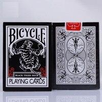 1 pcs Bicicleta Tigre Preto Baralho Ellusionist Close Up Stage Truques de Mágica Cartas Mágicas de Poker do Cartão de Jogo para o Mágico Profissional