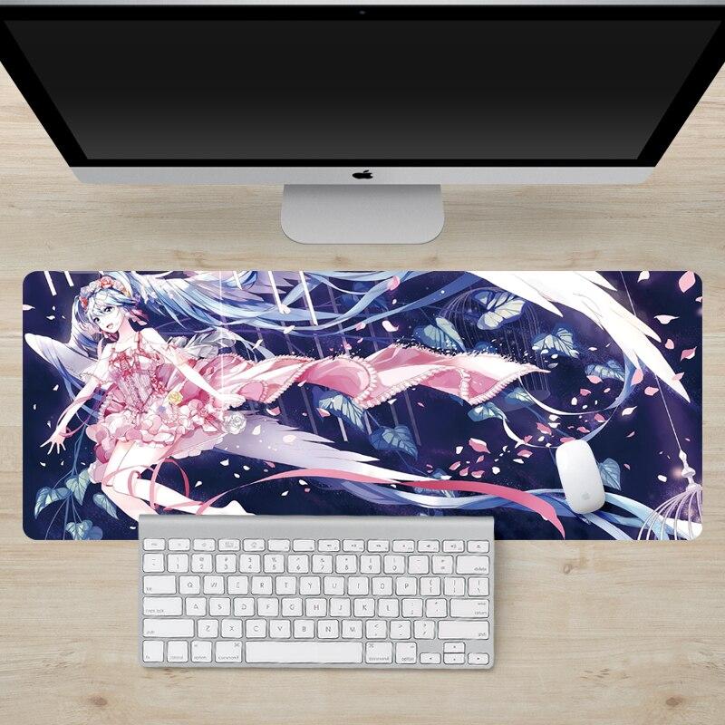 900X400X2mm Anime grande mouse pad tablets laptop bloqueio borda gaming mouse pad notebook teclado de computador tapetes de rato não-slip pads