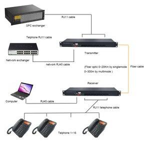Image 5 - Премиум 16 каналов PCM голосовой Телефон по волоконно оптическим медиа конвертерам с 10/100 Мбит/с Ethernet FC одномодовым волокном 20 км
