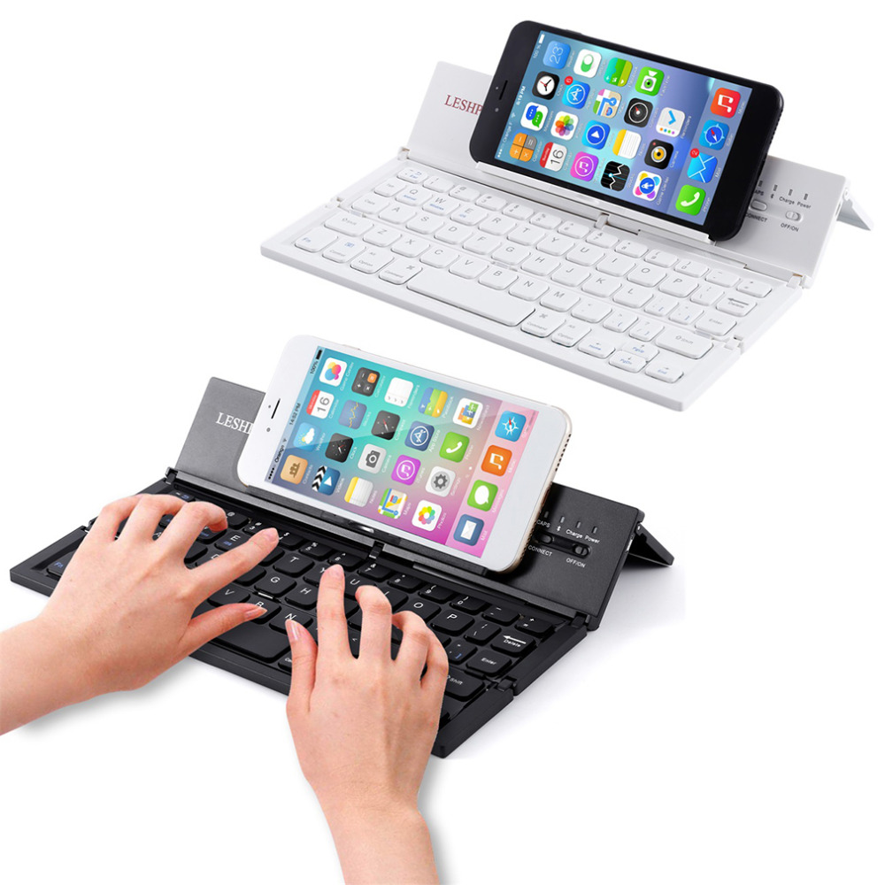 Phone Phone Keyboard For Android leshp portable wireless bluetooth keyboard folding mobile phones tablet for ipad ios android blackwhite in keyboa
