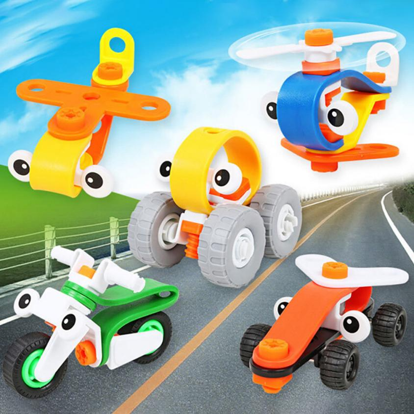 DIY Imagination Building Bricks Blocks Cartoon Car Building Kit Toys Developing thinking skill Building Blocks t211