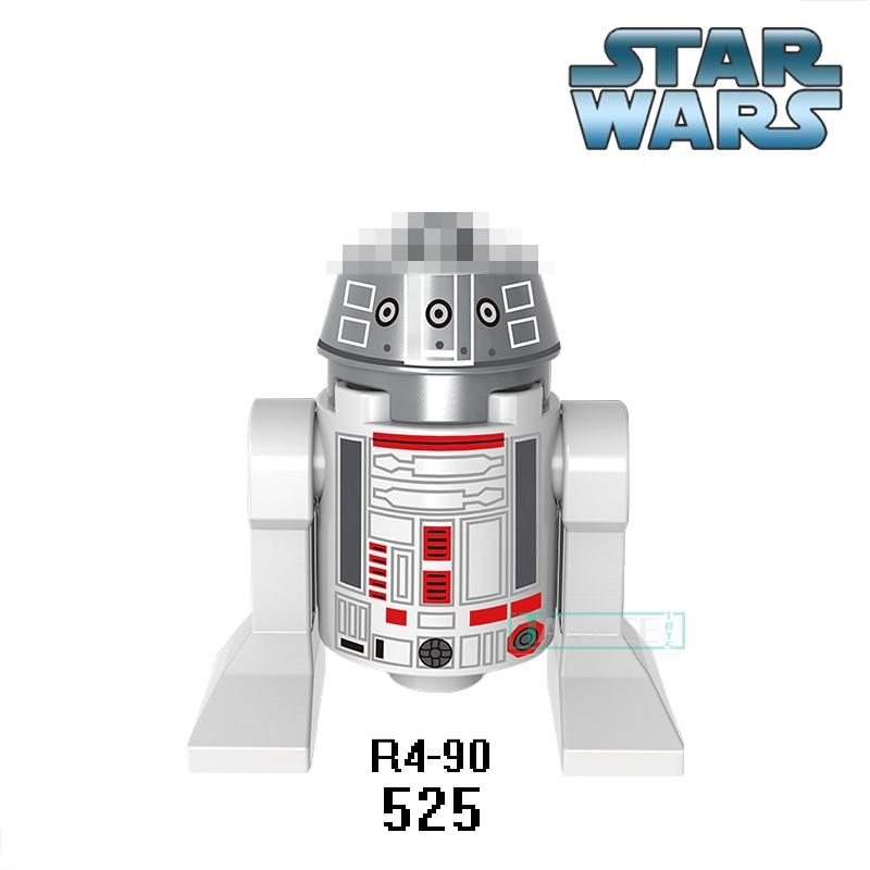 Single Sale XH 525 Building Blocks DIY Figures R2D2 BB8 Dolls R490 Star Wars Smart Robot C110p RSJ2 Classic Children Gift Toys